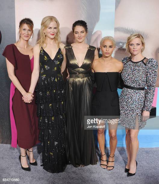 Laura Dern Nicole Kidman Shailene Woodley Zoe Kravitz and Reese Witherspoon arrive at the Los Angeles premiere 'Big Little Lies' at TCL Chinese...