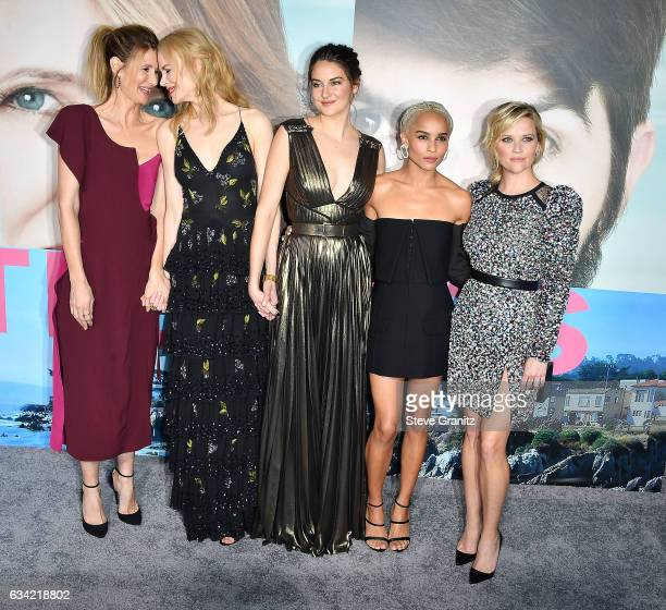 Laura Dern Nicole Kidman Shailene Woodley Zoe Kravitz Reese Witherspoon arrive at the Premiere Of HBO's 'Big Little Lies' at TCL Chinese Theatre on...