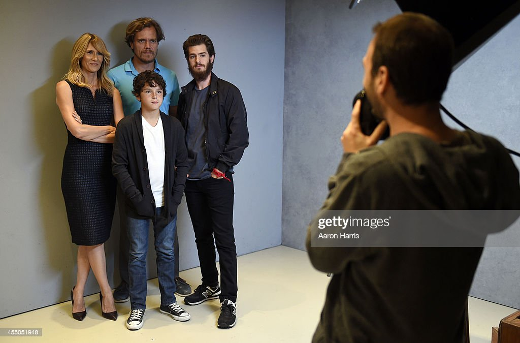 Laura Dern, Noah Lomax and Michael Shannon and Andrew Garfield attends the Guess Portrait Studio during 2014 Toronto International Film Festival on September 9, 2014 in Toronto, Canada.