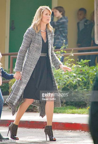 Laura Dern on the set of 'Big Little Lies' is seen on January 16 2016 in Los Angeles California