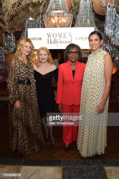 Laura Dern Patricia Clarkson Dr Anita Hill and Radhika Jones attend Vanity Fair and Lancôme Toast Women in Hollywood on February 06 2020 in Los...
