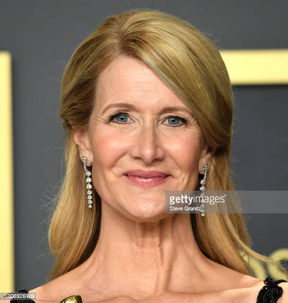 Laura Dern poses at the 92nd Annual Academy Awards at Hollywood and Highland on February 09, 2020 in Hollywood, California.