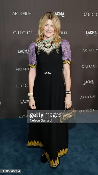 Laura Dern wearing Gucci attends the 2019 LACMA Art Film Gala Presented By Gucci at LACMA on November 02 2019 in Los Angeles California