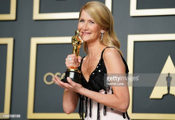 "Laura Dern, winner of Best Actress in a Supporting Role for ""Marriage Story"", poses in the press room during 92nd Annual Academy Awards at Hollywood..."