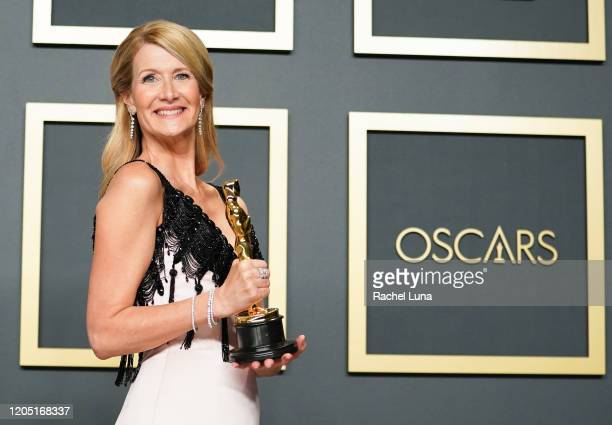 Laura Dern winner of Best Actress in a Supporting Role for Marriage Story poses in the press room during 92nd Annual Academy Awards at Hollywood and...