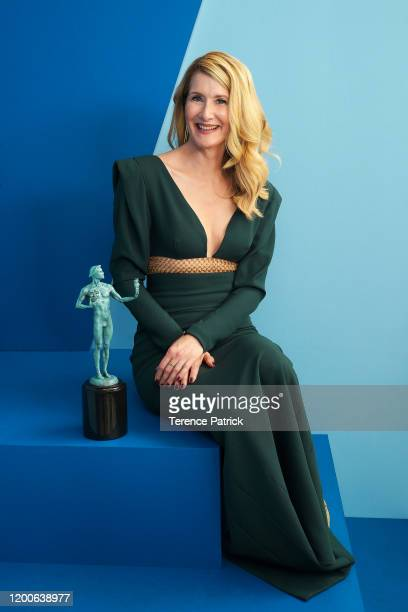 Laura Dern, winner of the Outstanding Performance by a Female Actor in a Supporting Role in a Motion Picture award for 'Marriage Story,' poses in the...