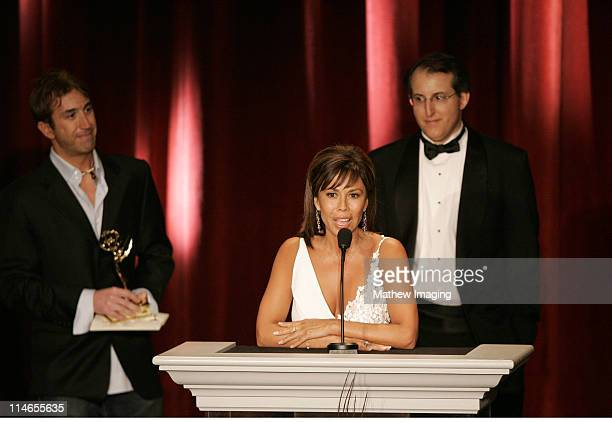 Laura Diaz accepts the 57th Annual Los Angeles Area Emmy Award for REGULARLY SCHEDULED DAILY NEWS 035 MINUTE FORMAT CBS2 NEWS AT 11PM * CBS2...