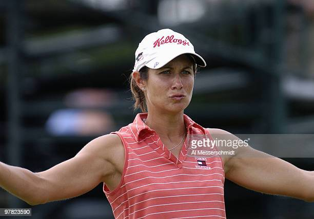 Laura Diaz competes in firstround play in the 2004 McDonald's LPGA Championship at DuPont Country Club Wilmington Delaware June 10 2004