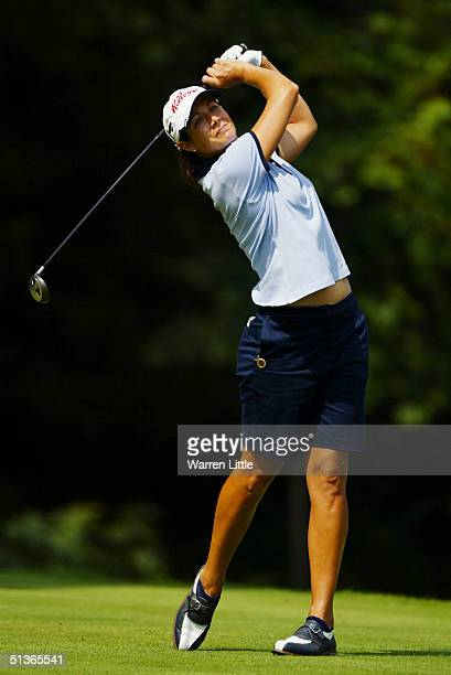Laura Diaz of USA during the final round of the Weetabix Womens British Open at Sunningdale Golf Club on August 1 2004 in Sunningdale England