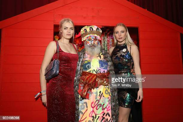 Laura Doggett and a guest attend the BRITS official aftershow party in partnership with Tempus Magazine at the Intercontinental London The O2 on...
