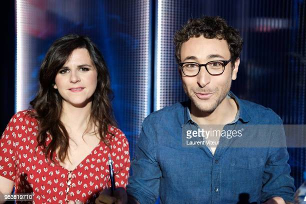 Laura Domenge and Sebastian Marx attend 'La Bataille du Rire' TV Show at Theatre de la Tour Eiffel on June 25 2018 in Paris France
