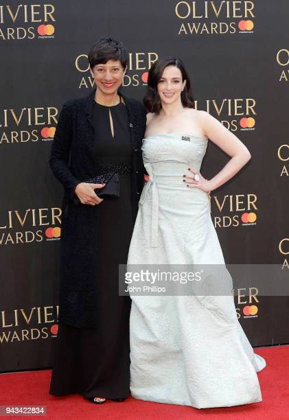 Laura Donnelly and guest attend The Olivier Awards with Mastercard at Royal Albert Hall on April 8 2018 in London England