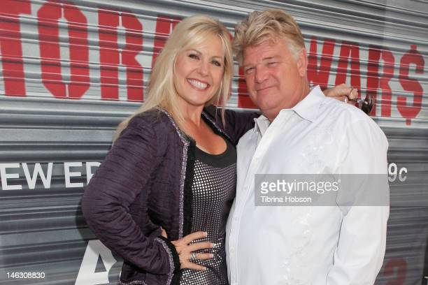 Laura Dotson and Dan Dotson attend AE's 'Storage Wars' Lockbuster Tour at Nokia Plaza LA LIVE on June 13 2012 in Los Angeles California