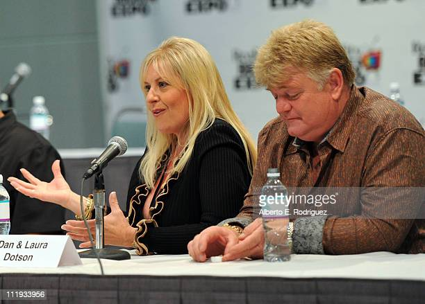 Laura Dotson and Dan Dotson speak at Reality Rocks Expo Day 1 at the Los Angeles Convention Center on April 9 2011 in Los Angeles California