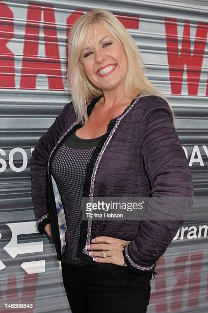 Laura Dotson attends AE's 'Storage Wars' Lockbuster Tour at Nokia Plaza LA LIVE on June 13 2012 in Los Angeles California