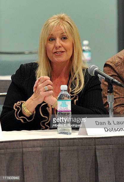Laura Dotson speaks at Reality Rocks Expo Day 1 at the Los Angeles Convention Center on April 9 2011 in Los Angeles California