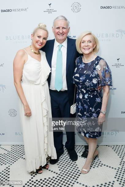 Laura Dove, Nick Dove and Arzelia Dove attend the Bluebird London New York City launch party at Bluebird London on September 5, 2018 in New York City.