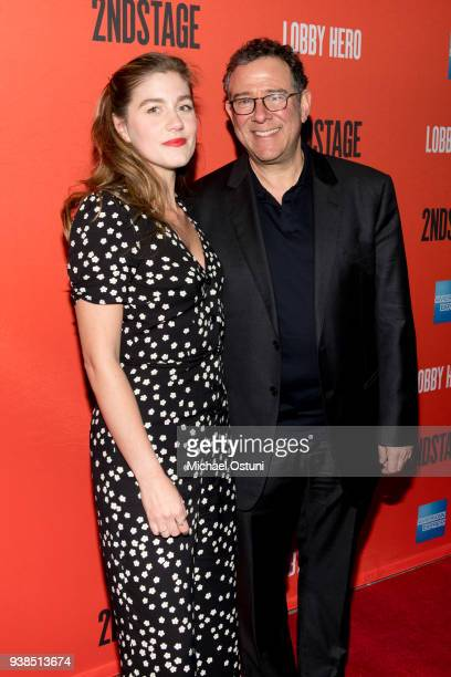 Laura Dreyfuss and Michael Greif attend 'Lobby Hero' Broadway opening night at Hayes Theater on March 26 2018 in New York City