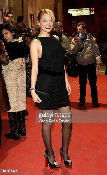 Laura Drzewicka attends the Mi Scappa Da Ridere red carpet held at Teatro Smeraldo on December 9 2010 in Milan Italy