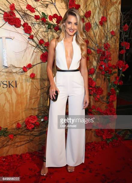 Laura Dundovic arrives ahead of the Beauty And The Beast Australian Premiere at State Theatre on March 9 2017 in Sydney Australia