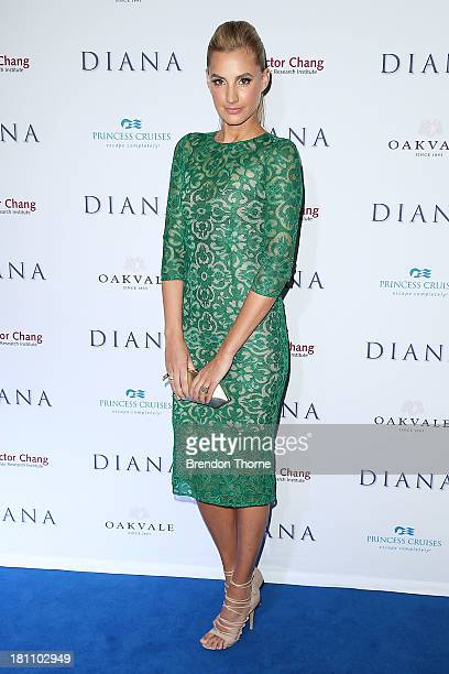 Laura Dundovic arrives at the Australian premiere of 'Diana' at Event Cinemas George Street on September 19 2013 in Sydney Australia