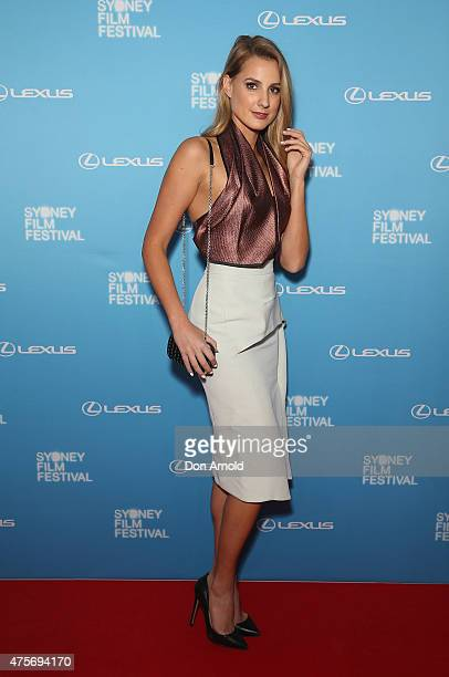 Laura Dundovic arrives at the Sydney Film Festival Opening Night Gala at the State Theatre on June 3 2015 in Sydney Australia