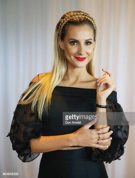 Laura Dundovic attends 2017 Golden Slipper Day at Rosehill Gardens on March 18 2017 in Sydney Australia