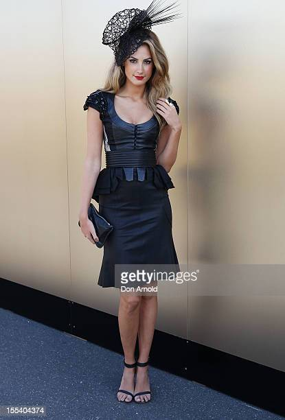 Laura Dundovic attends Derby Day at Flemington Racecourse on November 3 2012 in Melbourne Australia