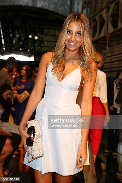 Laura Dundovic attends the Alex Perry show during MercedesBenz Fashion Week Australia 2014 at Carriageworks on April 7 2014 in Sydney Australia