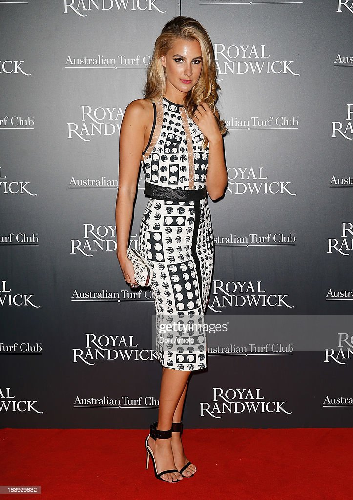 Laura Dundovic attends the Gala Launch event to celebrate the new Australian Turf Club Grandstand at Royal Randwick Racecourse on October 10, 2013 in Sydney, Australia.