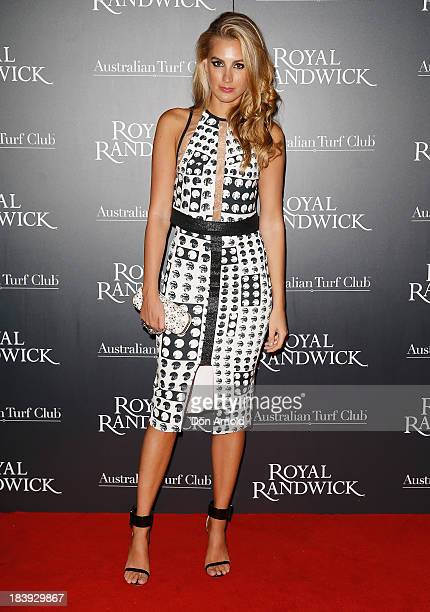 Laura Dundovic attends the Gala Launch event to celebrate the new Australian Turf Club Grandstand at Royal Randwick Racecourse on October 10 2013 in...