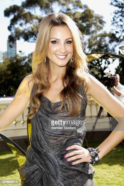 Laura Dundovic attends the Opening Night Party for the 2010 L'Oreal Melbourne Fashion Festival at Government House on March 14 2010 in Melbourne...