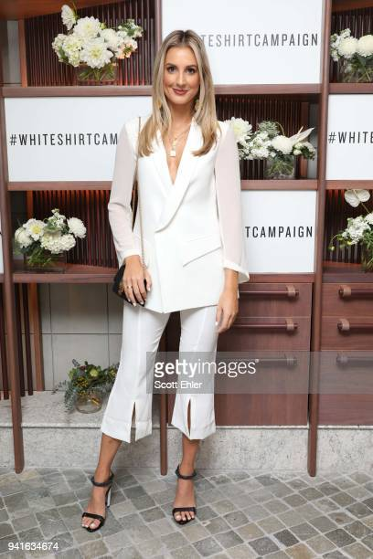 Laura Dundovic attends the Witchery x OCRF White Shirt Campaign Launch on April 4 2018 in Sydney Australia