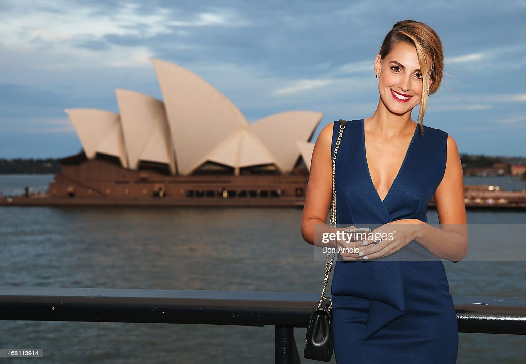 Laura Dundovic poses at the launch of the Samsung Galaxy S6 and S6 edge on March 30, 2015 in Sydney, Australia.