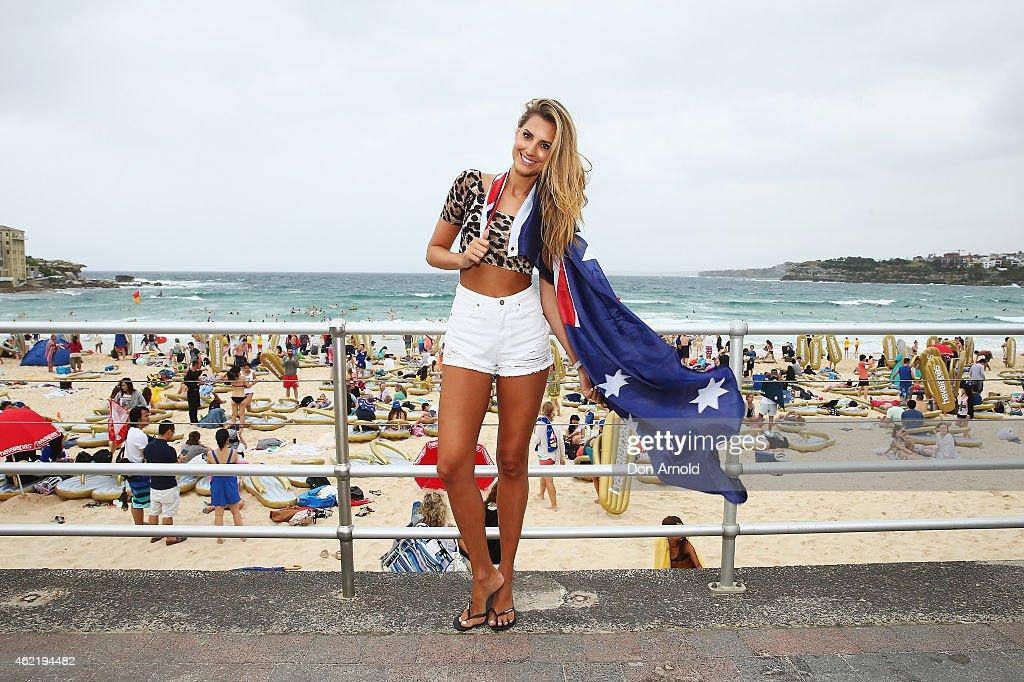 Australia Day Thong Challenge At Bondi Beach