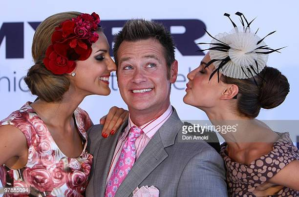 Laura Dundovic Richard Reid and Rachael Finch attend Myer Ladies Day as part of the Golden Slipper Racing Carnival at Rosehill Gardens on March 20...