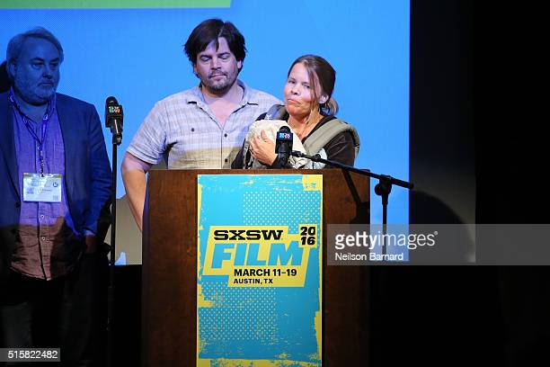 Laura Dunn and Geoff Sewell accept the award for Special Jury Recognition for Cinematography for The Seer attend the SXSW Film Awards Presented by...