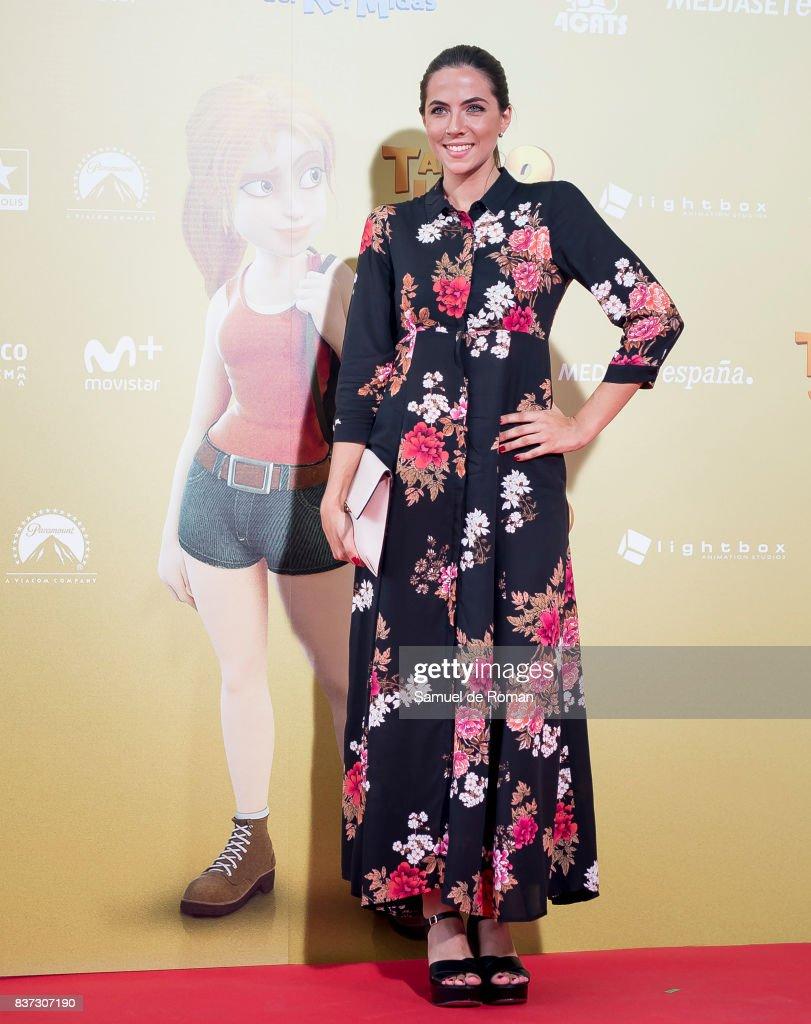 Laura Durand attends the 'Tadeo Jones 2. El Secreto Del Rey Midas' Madrid Premiere on August 22, 2017 in Madrid, Spain.