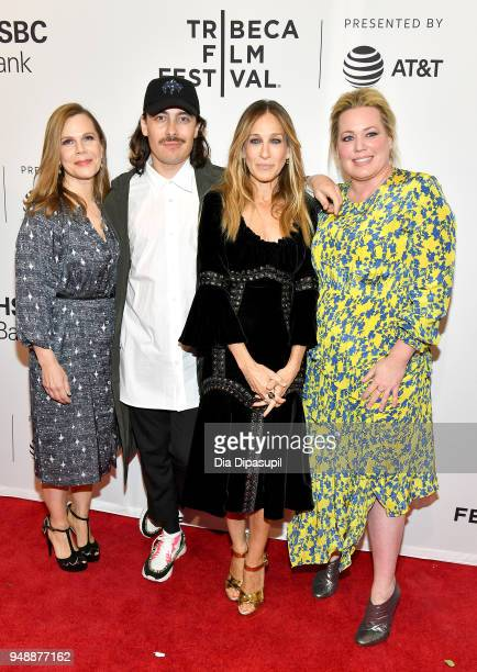 Laura Eason Fabien Constant Sarah Jessica Parker and Alison Benson attend a screening of 'Blue Night' during the 2018 Tribeca Film Festival at SVA...