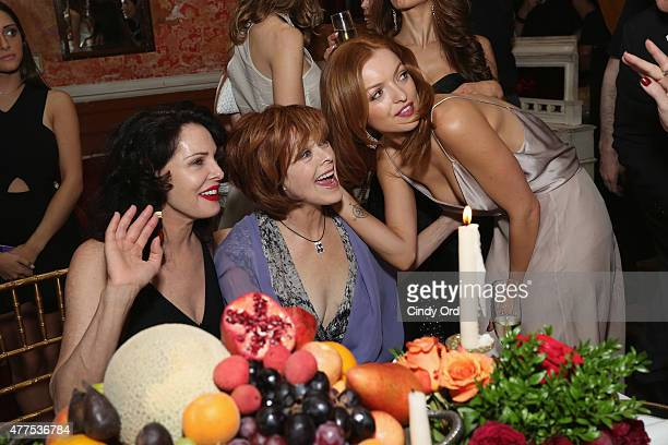 Laura Eastwood Frances Fisher and Francesca Eastwood attend the Casa Reale Fine Jewelry Launch at The Box on June 17 2015 in New York City