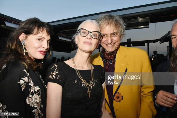Laura Eastwood Kristen McMenamy and Felix Boukobza attend Tribute To Hubert Boukobza Boss of Les Bains Douches Club during the Nineties At the...