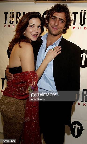 Laura Elena Harring and Adriano Giannini during Turi Vodka Party at Private Residence in West Hollywood California United States