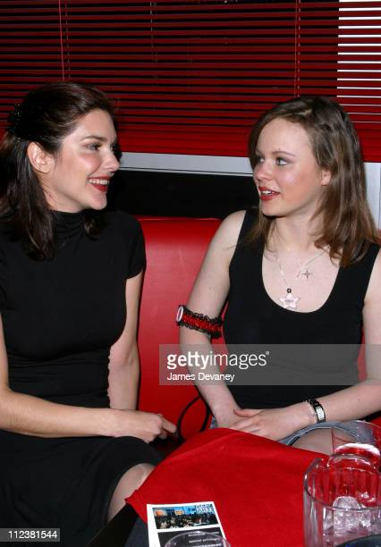 Laura Elena Harring and Thora Birch during New York Premiere of 'XX/XY' After Party at Show World in New York City New York United States