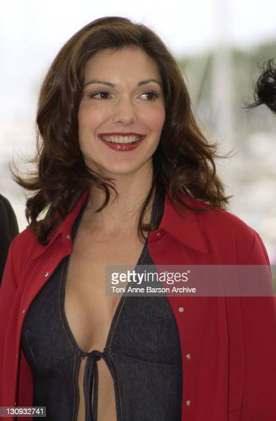 Laura Elena Harring during Cannes 2001 Mulholland Drive Photo Call at Palais des Festivals in Cannes France