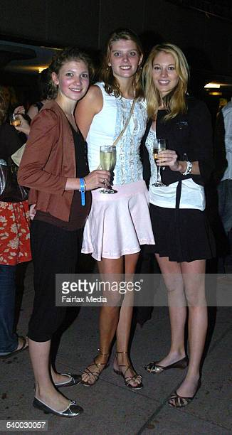 Laura Emily and Annabel Keen at the World's Fastest Indian Premiere at the Dendy Opera Quays Circular Quay Sydney 16 March 2006 SHD Picture by JANIE...