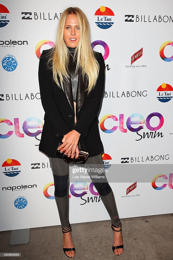 Laura Enever arrives at the 2013 CLEO Swim Party at The Bucket List on November 26, 2013 in Sydney, Australia.