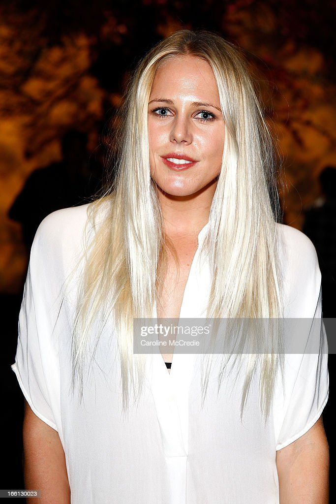 Laura Enever attends the Aje show during Mercedes-Benz Fashion Week Australia Spring/Summer 2013/14 at Carriageworks on April 9, 2013 in Sydney, Australia.
