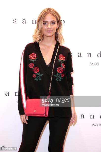 Laura Escanes attends Sandro Paris store opening at Passeig de Gracia Boulevard in Barcelona on October 24 2017 in Barcelona Spain