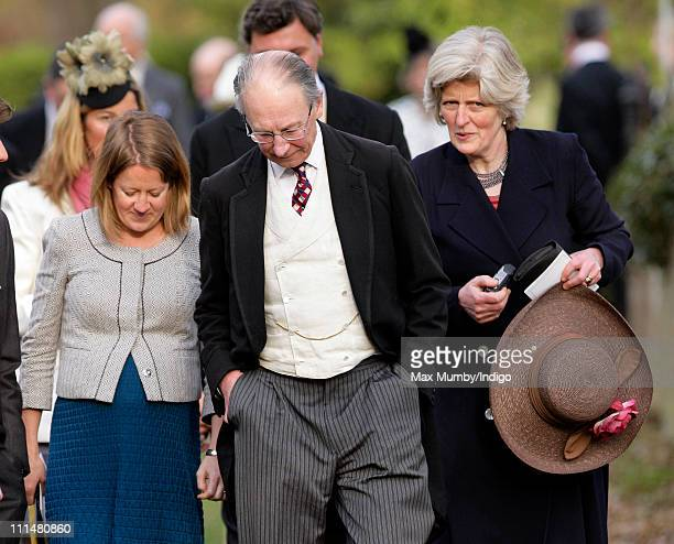 Laura Fellowes Sir Robert Fellowes and Lady Jane Fellowes attend the wedding of William DuckworthChad and Lucy Greenwell at All Saints Church...