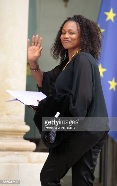 Laura Flessel France's minister for sport arrives for a cabinet meeting at the Elysée Palace in Paris France on May 18 2017